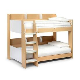 Julian Bowen Two-tone 'Domino' bunk bed including mattress (used but in very good condition)