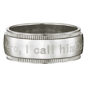 Mens Stainless Steel Dads Ring Size 9