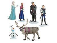 6pcs frozen figures cake toppers kids toys new