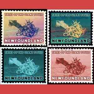 Newfoundland Stamp Art - Giant Squid St. John's Newfoundland image 3