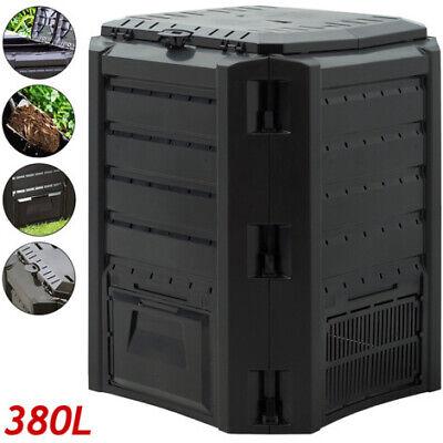 Composter Garden Bin 380L Waste Converter Black Composting Unit