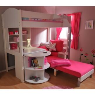 Loft Bedroom with desk and lounge outstanding value
