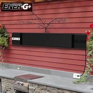 OB ENER-G+ ELECTRIC HEATER HEA-21899 219987781 WALL MLNTED INFRARED GLARELESS W/ REMOTE OPEN BOX