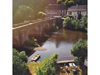 For Sale: Magnificent village house with garden bordering a river, Vigeois (Limousin) France