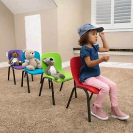 Lifetime Kids Chairs (Green & Blue)