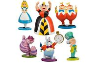 6 pcs alice in wonderland figures cake toppers new