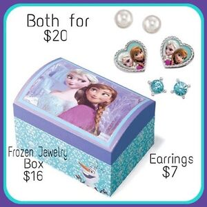 Frozen jewelry box and earring set