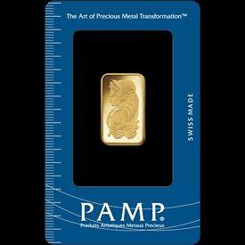PAMP Suisse Fortuna 10g (Gram) Fine Gold Bar Bullion 999.9