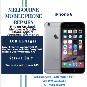 Melbourne Mobile Phone Repairs(iPhone 6)