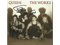 QUEEN: The Works CD Signed on the front by Members: Brian May, Roger Taylor & John Deacon with COA.