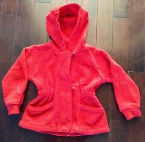 Child Hooded Red Jacket/Sweater - size 4