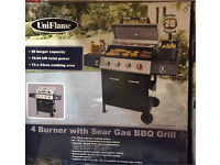 Barbecue 4 burner gas BBQ grill