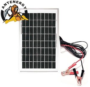 10W 12V Portable SOLAR TRICKLE BATTERY CHARGER for car,RV,camp,marine,atv