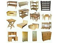 Looking for unwanted furniture including sofas, tables, chairs, chest of drawers