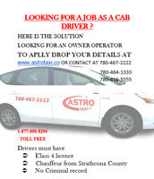 Cab driver needed