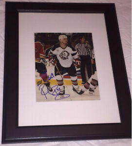 Rob Ray Autographed Buffalo Sabres 8x10 Framed.