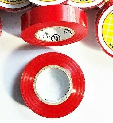 2 Rolls 60 Ft General 34 X 60 Vinyl Pvc Red Insulated Electrical Tape