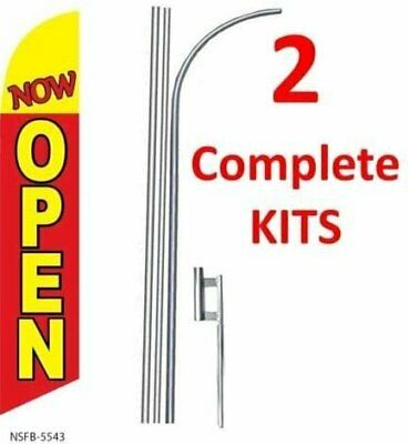 2 Two Now Open Redyel 15 Swooper 3 Feather Flags Kit With Polesspikes