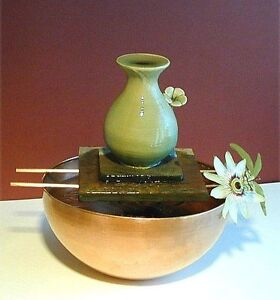 Water Fountain - Copper Bowl with Pitcher, Feng Shui