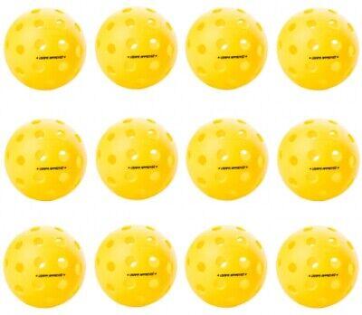 12 ONIX BALLS FUSE OUTDOOR PICKLEBALLS  12 Pak  Yellow USAPA APPROVED