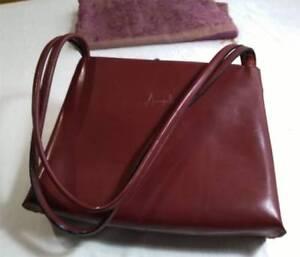Maroon Dark Red Annapelle Handbag And Matching Scarf