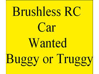 RC car wanted. Buggy or truggy 1:8 or 1:10 scale brushless. HPI, Losi, Arrma, Traxxas etc. Radio con