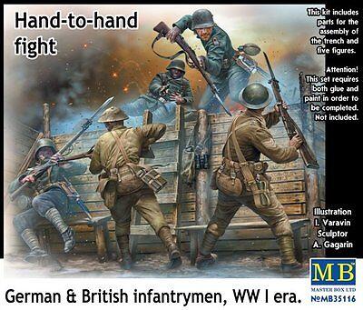 1/35 Master Box 35116  German & British Infantrymen WWI era Vignette 5 Figure