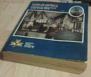1976 WINNIPEG PHONE Book phonebook Directory Kingston Kingston Area image 1