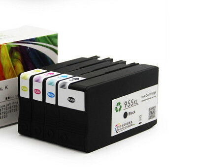 for HP 955XL 4 pcs Ink Cartridge OfficeJet Pro7740 8710 8715 8720 8730 8740 8210