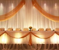 WEDDING BACKDROP FOR RENT $135 FOR 5-DAY WEEKEND RENTAL