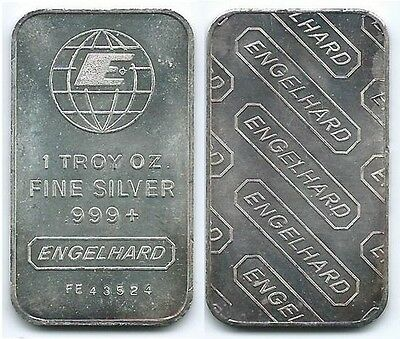 Vintage Engelhard One Ounce Silver Bars Ebay