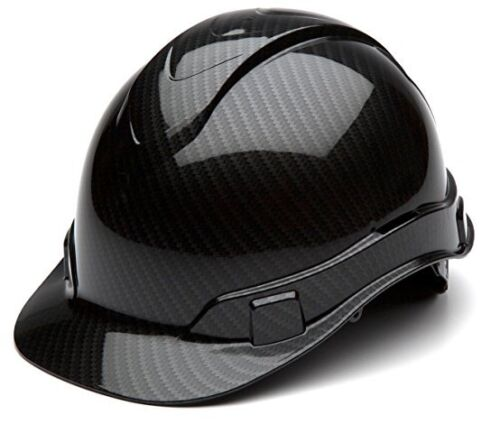 Pyramex HP44117S Ridgeline Graphite Cap Style Shiny Black Hard Hat 4 Pt Ratchet