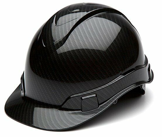 Pyramex HP44117S Ridgeline Graphite Cap Style Shiny Black Hard Hat 4 Pt Ratchet Business & Industrial