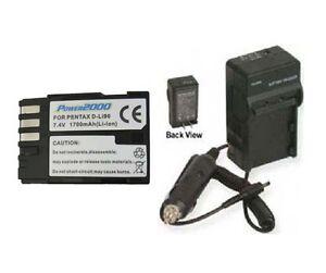 SNAPITDIGITAL D-LI90 DLI90 D-LI90B DLI90B Battery + Charger for Pentax K-7 K7 K-5 K5 645D at Sears.com