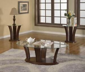 Coffee Tables: Wood & Glass Coffee Tables SD-29