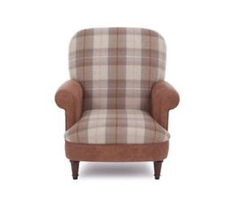 Checked Armchair