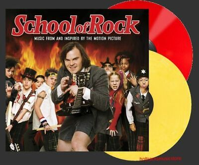 School of Rock SOUNDTRACK Red & Yellow Colored Vinyl LP NEW & SEALED Rare -