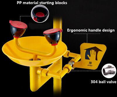 New 12lmin Coating Combination Shower Station Eye Wash Eyewash Station Chemical