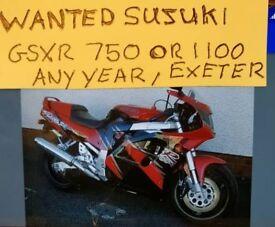 WANTED SUZUKI 750 OR 1100 GS/GSXR