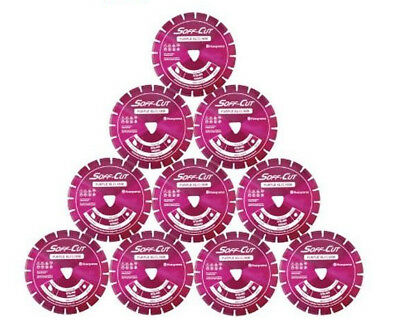 Husqvarna Excel 1000 10 Purple Soff Cut Ultra Early Entry Diamond Blade 10pk