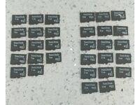 Batch of Micro SD cards for sale. SanDisk 1GB 2GB