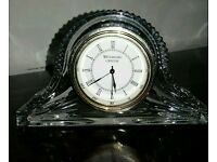 "Waterford Crystal Cut Glass ""Timepieces"" Stunning Mantle Clock"