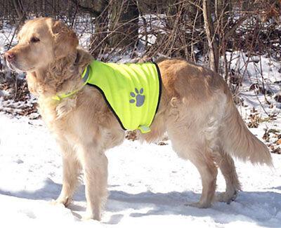 Sicherheitsweste für Hunde Größe L Warnweste (Nylon Sicherheits-weste)