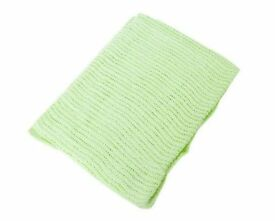 Baby Cellular Blanket Large (100cm x 150cm) (Mint Green)
