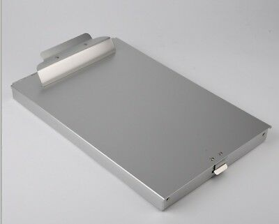 Aluminum Clipboard With Storage 9-14 X 14 Size. Brand New High Quality