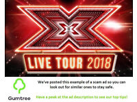 XFactor Live Tickets -- Read the ad description before replying!!