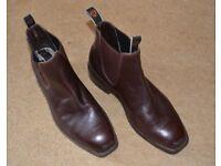 Men's Ariat Stanbroke jodhpur boots, brown, UK size 9.5W. Little worn