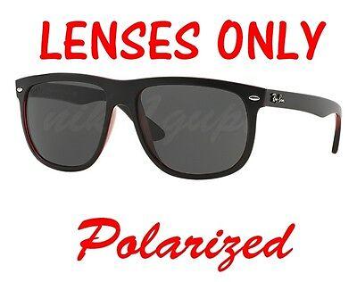 POLARIZED Black/Dark Grey Ray Ban RB 4147 High Street Replacement Lens 60mm (Ray Ban Rb4147 Highstreet)