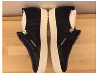 Giuseppe Zanotti Croc Effect Low Top Trainers in Size 10