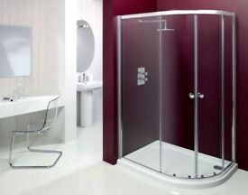 Merlyn MBox 1200x900mm Offset Quadrant Shower Enclosure (Right hand) - No Doors!